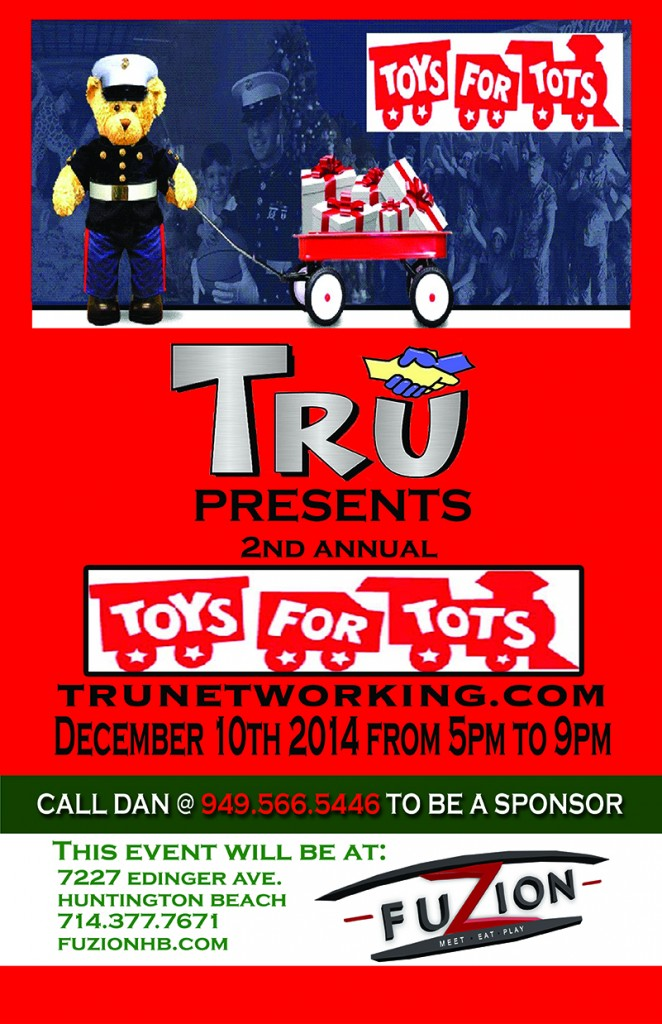 Toys 4 Tots Posters : Tru networking toys for tots drive at fuzion business