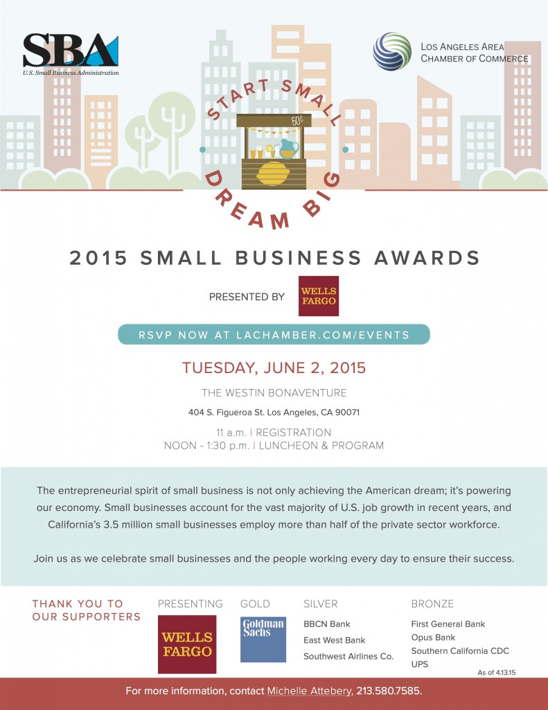 SMALL BUSINESS AWARDS FLYER