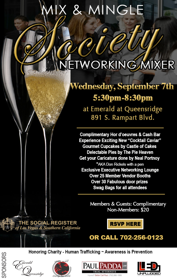 Mix & Mingle at The Social Register's Society Networking Mixer