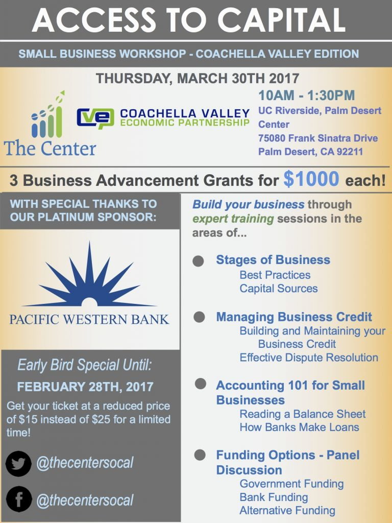 Access to Capital - Small Business Workshop