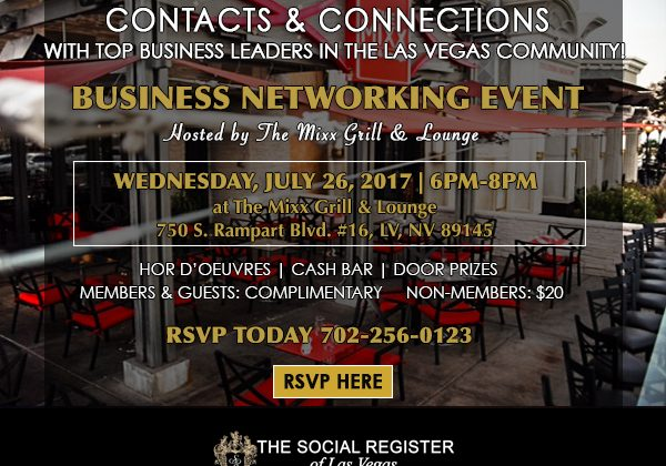 The Social Register of Las Vegas' Business Networking Event