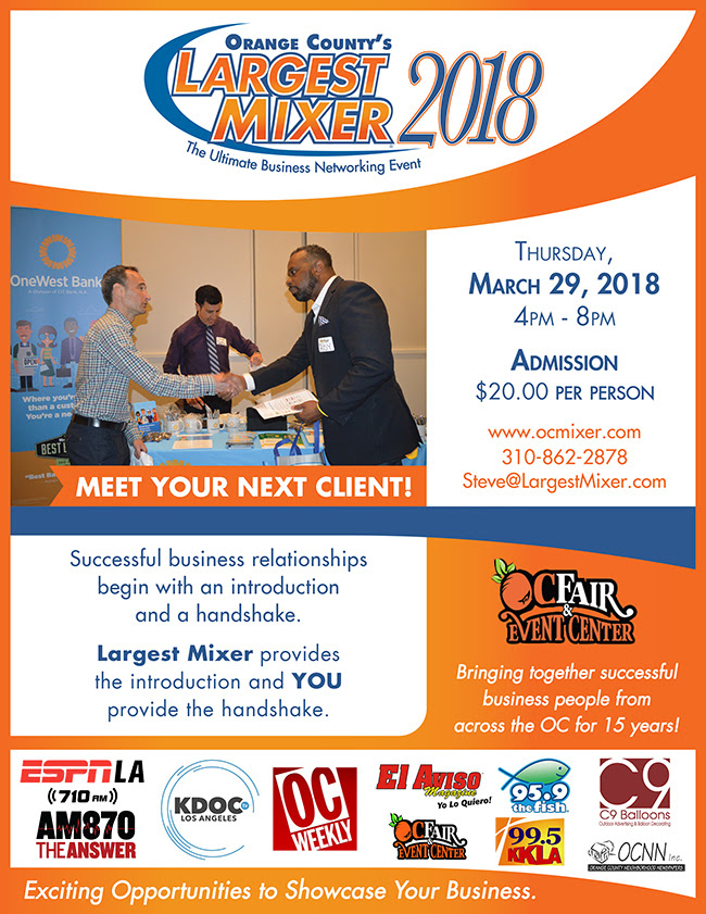 The OC Mixer Is Back - March 29, 2018