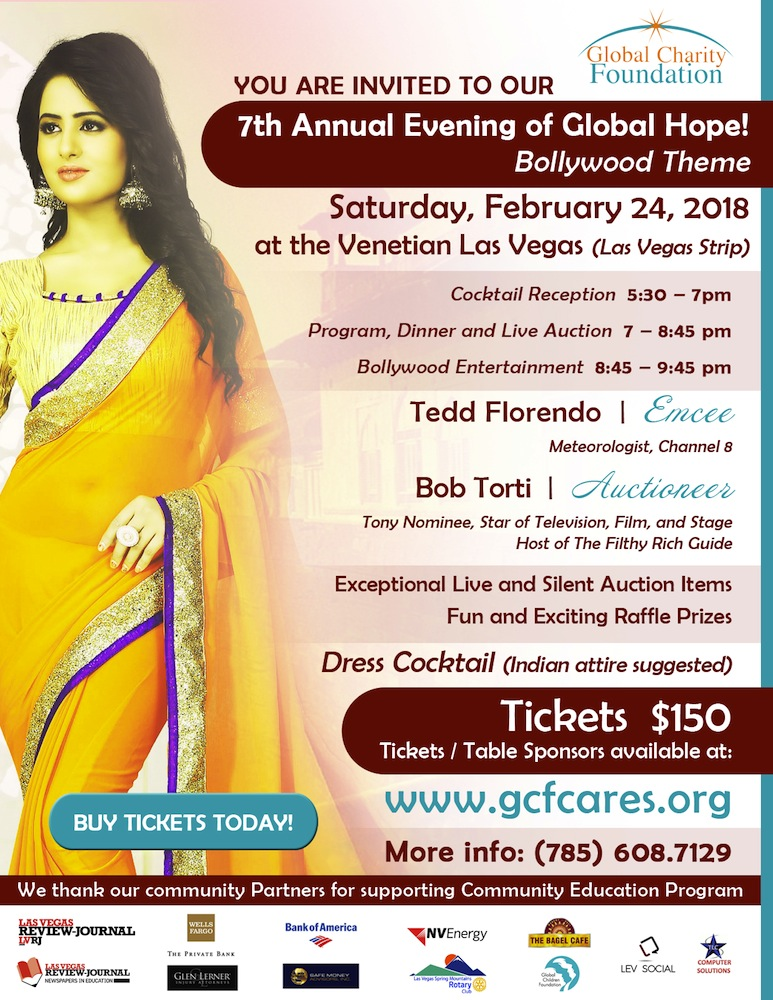 Global Charity Foundation Presents an Evening of Global Hope - February 24, 2018