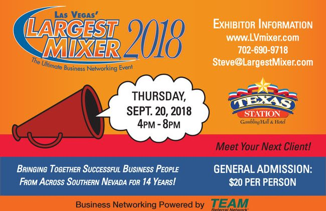 Earlybird Exhibitor Registration for Las Vegas' Largest Mixer!