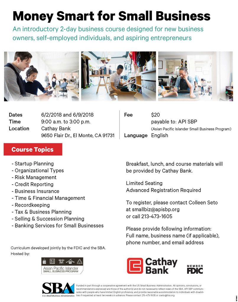 Money Smart for Small Business Training