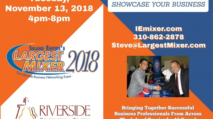 Inland Empire's Largest Mixer - November 13, 2018