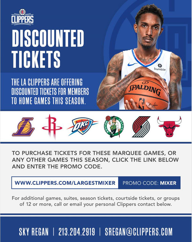 Discount Ticket Offer for the LA Clippers
