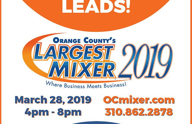 Get Your Business Face-to-Face at the OC Mixer - March 28, 2019