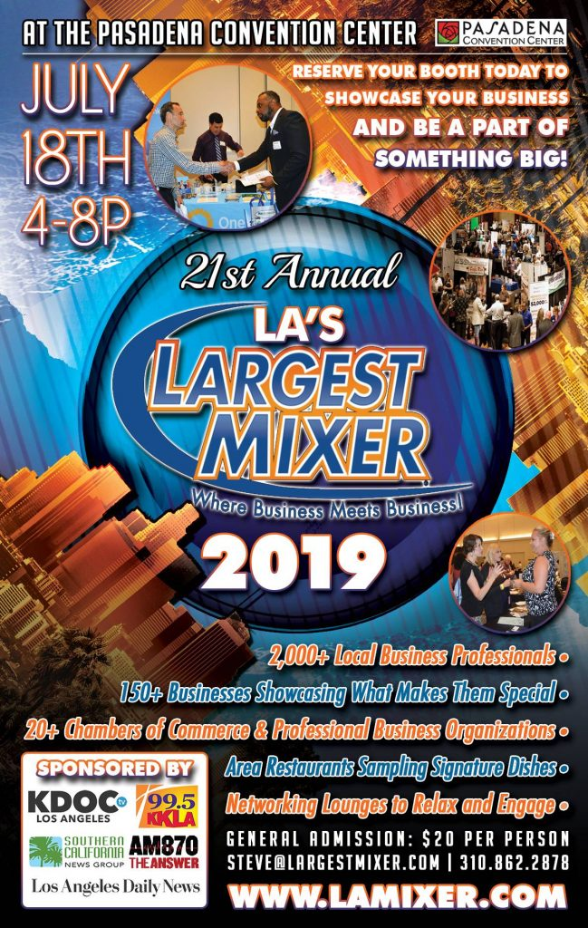 L.A.'s Largest Mixer - Thursday, July 18, 2019
