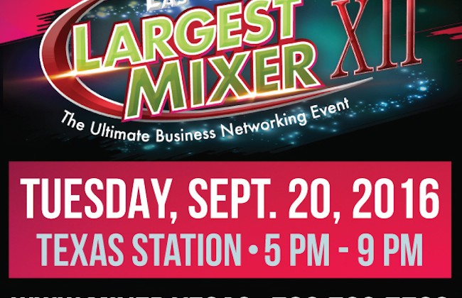 THE 12TH ANNUAL LAS VEGAS' LARGEST MIXER IS TUESDAY, SEPTEMBER 20TH
