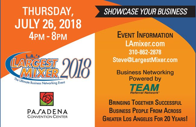 Become an Exhibitor at L.A.'s Largest Mixer 7/26/18